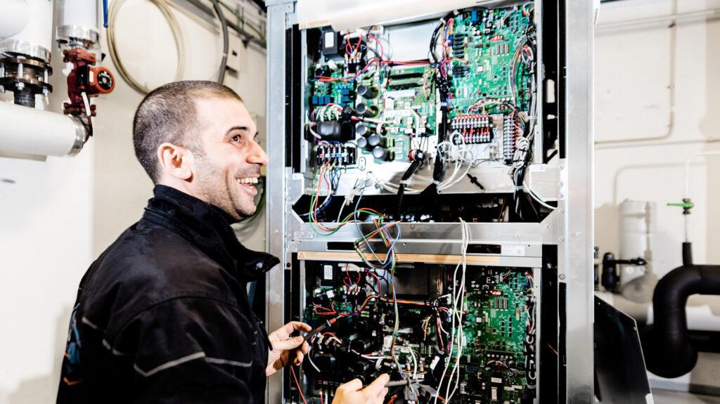 Climapac servicetekniker på platsbesök